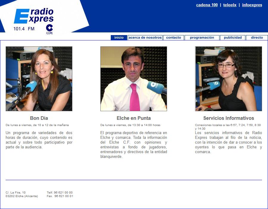 Web Radio Exprés Cadena COPE - Paco Gómez (Elche en Punta) - Bienve Niñoles (Bon Dia)