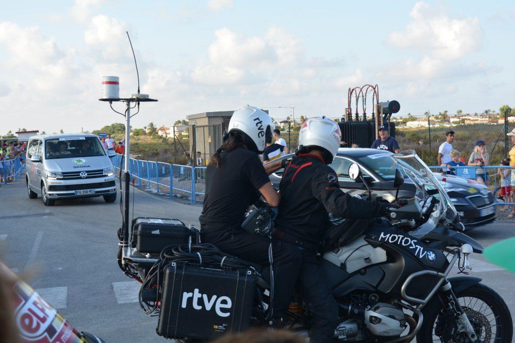 Detalle del equipo técnico utilizado por las motos
