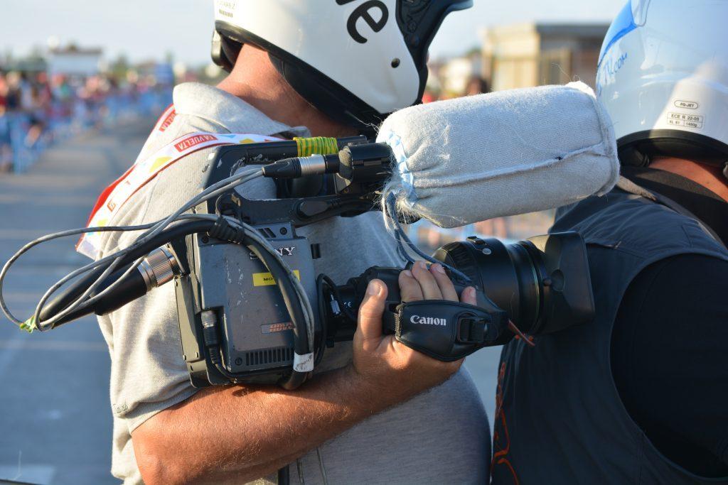 Detalle de una de las cámaras utilizadas por los profesionales de TVE