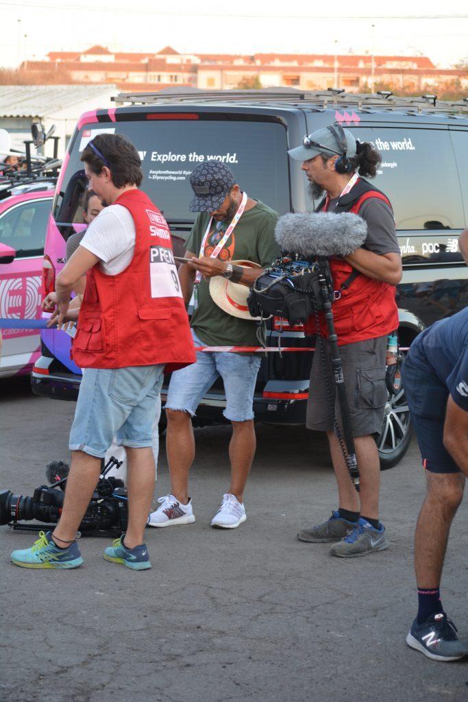 Equipo de periodistas de la organización de La Vuelta